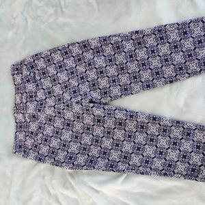JCREW Navy Printed Trousers!